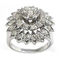 Rings | 1950's 1.10ct Diamond 14k White Gold Ring | New York Estate Jewelry | Israel Rose