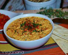 Homus com Pimentão Vermelho Assado - Veganana