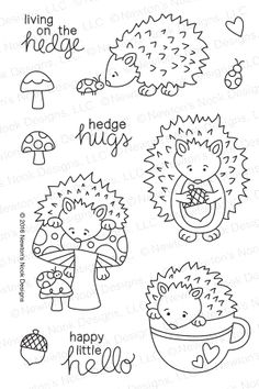 Newton's Nook Designs HEDGEHOG HOLLOW Clear Stamp Set 20160803 at Simon Says STAMP!