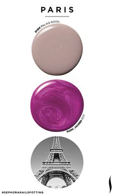 From Paris to Tokyo: Match your mani-pedi to your summer travel destination. Sephora      Love the colors