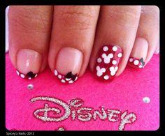 My Minnie Mouse Nail Art....