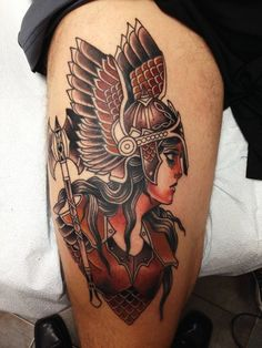 UPDATE: Second session of my Valkyrie, by Stefan Johnsson, California Electric Tattoo, Soquel, CA. - Imgur