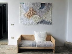 """This weaving was collaboration between Ana Kras and Confettisystem. All over Villa Lena, there were remnants of art projects that people had done here and there."