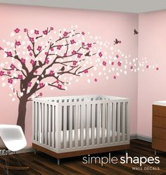 Vinyl Wall Art Decal Sticker - Cherry Blossom Tree - Elegant Style - LARGE. $149.00, via Etsy.