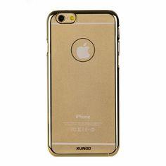 """Накладка пластиковая XUNDD для iPhone 6 4.7"""" прозрачная с золотым ободком купить в интернет-магазине BeautyApple.ru."""