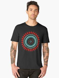 « Mandala, red, blue - Mandala rouge, bleu - zen, yoga, meditation » par LEAROCHE Zen Yoga, Yoga Meditation, Mandala, Red And Blue, T Shirt, Mens Tops, Red, Blue, Supreme T Shirt