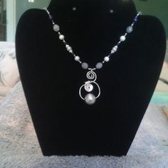 "This is a sold 16.5"" Beaded Necklace and Wire Wrapped by GlamGalsJewelryBox"