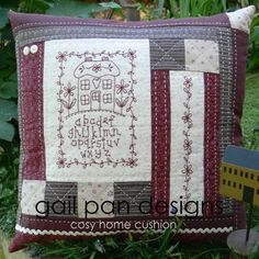 Cosy Home Cushion - by Gail Pan Designs - Cushion PatternSECONDARY_SECTION$15.00: Fabric Patch: Patchwork Quilting fabrics, Moda fabric, Quilt Supplies,�Patterns