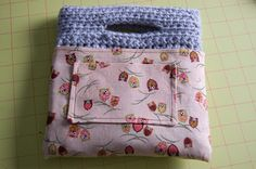 TUTORIAL: LINING A CROCHETED BAG… Here's an idea; use an old shirt from someone you love to line your bag. This way, you carry him/her with you all the day long.