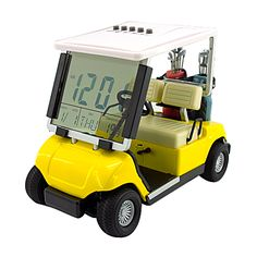 Trendy Mini Golf Car LED Alarm Clock - White Color