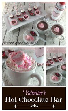 Welcome the family in our of the cold with this! Valentine's Day Ideas: Hot Chocolate Bar from SweetandSimpleLiving.com