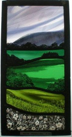 'Pendle Hill' by stained glass artist Annie Rie