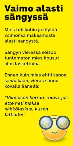 vitsit_vaimo_alasti_sangyssa2 Arduino, Texts, Language, Lol, Humor, Comics, Funny, Historia, Humour