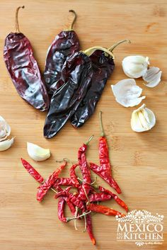 Guajillo and Arbol peppers.