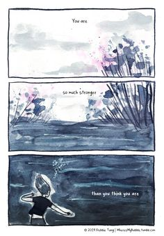 Debbie Tung's sketches of everyday life, comics and illustrations. Introvert Personality, Introvert Quotes, Self Love Quotes, Mood Quotes, Stronger Than You Think, Cute Comics, Girl Cartoon, The Dreamers, Thinking Of You