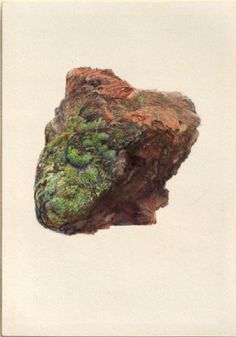 John Ruskin. 'Study of a Piece of Brick, to show Cleavage in Burnt Clay'. Watercolour and bodycolour over graphite on wove paper. 1871.