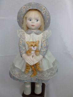 GERALDINE & GRUMPS. a handmade rag/cloth ooak artist doll by Brenda Brightmore | eBay