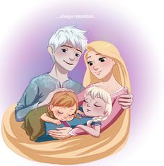 The Frost Family. Jack, Rapunzel, Elsa and Anna