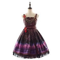 7f83f898cd9 Classical Lolita dress with cherry blossom firework pattern with deluxe  tippet for adult women Manluyunxiao