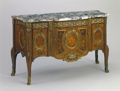 Commode (Chest of Drawers) c.1770  wood marquetry, gilded bronze and marble, Pierre-Antoine Foullet  (French; active ca. 1765–1780)