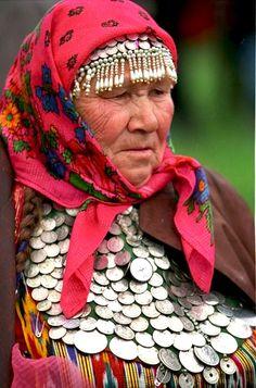 Udmurt woman. Siberia. Russia.