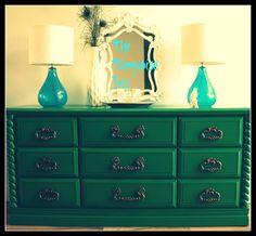 emerald green furniture -