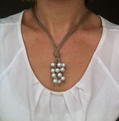 Collier lin grappe nacré Please follow and like us: