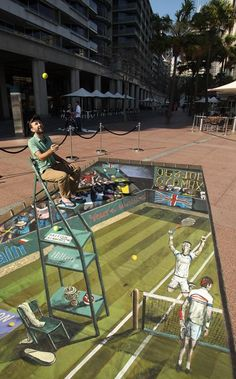 The largest 3D painting in the world - Friki.net #tennis http://www.centroreservas.com/