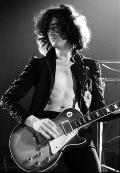Jimmy Page of Led Zeppelin.