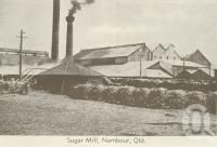 """<span class=""""caption-caption"""">Sugar mill, Nambour</span>, c1960. <br />Postcard folder by <span class=""""caption-publisher"""">Murray Views Pty Ltd</span>, collection of <span class=""""caption-contributor"""">Centre for the Government of Queensland</span>."""