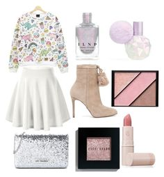"""My own world"" by shennen-torres ❤ liked on Polyvore featuring cutekawaii, Bobbi Brown Cosmetics, Elizabeth Arden, MICHAEL Michael Kors, Love Moschino, Lipstick Queen, Heels, girlpower and StarOutfits"