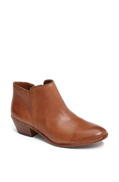 Free shipping and returns on Sam Edelman 'Petty' Bootie (Women) at Nordstrom.com. Supple leather shapes a low-profile bootie with a slight stacked heel.