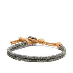Men's Th(E) Bracelet (Color: Grey) by Global Goods Partners - Seven Colonial Braided Bracelets, Bracelets For Men, Fashion Bracelets, Fashion Rings, Wire Bracelets, Diy Gifts For Boyfriend, Men Necklace, Jewelry Accessories, Men's Jewelry