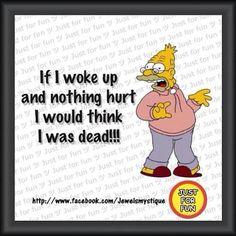 lol so true / chronic pain / #simpsons humor