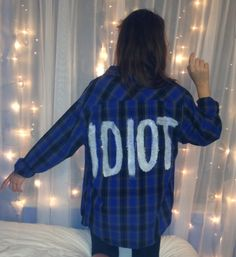 """MICHAEL CLIFFORD From 5SOS Inspired """"IDIOT"""" Flannel Shirt on Etsy, $30.00"""