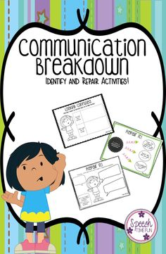 Communication Breakdown: Identify and Repair Activities! Work on identifying communication breakdown and topic maintenance with this fun, easy to implement, and low prep activity. Tons of activities included!