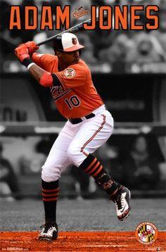 Trends International MLB Baltimore Orioles - Adam Jones Wall Poster, x White Framed Version Astros World Series, Orioles Baseball, Adam Jones, Baseball Players, Baseball Cards, Baseball Teams, American Sports, Nfl Sports, Sports Teams
