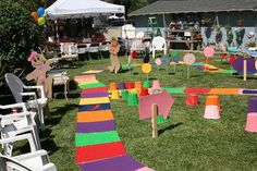 It is doubtful I could create a giant Candy Land board for my backyard, but fun to dream.