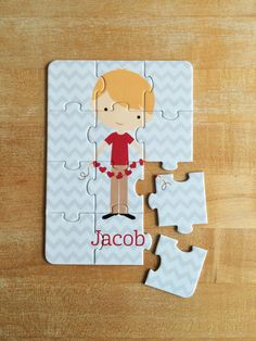 Personalized Valentine Boy Puzzle by jpurifoy on Etsy