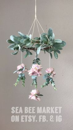 Floral Crib Mobile / Chandelier This gorgeous floral and greenery crib mobile is the perfect accent to a little girl's nursery. Nursery Themes, Nursery Room, Girl Nursery, Nursery Decor, Nursery Sets, Garden Nursery, Room Decor, Mobile Chandelier, Girls Chandelier