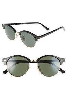 ab30902e11adc RAY-BAN Designer Clubround 51mm Polarized Sunglasses