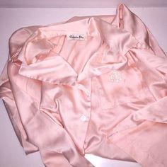 "Christian Dior Nightshirt Christian Dior pink satin nightshirt.  Measurements - pit to pit 25"" shoulder to hem 33"".  In nice condition. Christian Dior Intimates & Sleepwear"