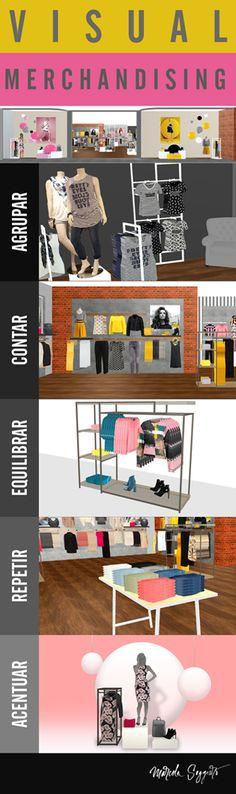 5 claves del visual merchandising a trabajar para el exito visual de tu tienda comercial. Click en la imagen para desarrollar cada una!