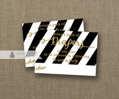 Diaper Raffle Ticket INSTANT DOWNLOAD Black & White Stripe Gender Neutral Baby Shower Game Drawing Contest Insert Card Printable DIY- Wendy