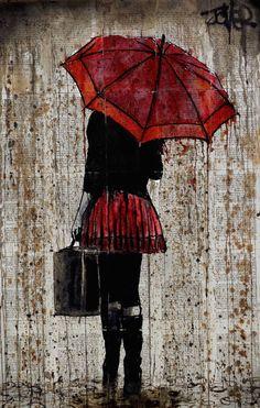 "Saatchi Art Artist Loui Jover; Drawing, ""rainy day story"" #art"