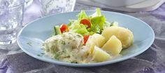 Koskenlaskija-uunikala Wine Recipes, Cantaloupe, Potato Salad, Recipies, Food And Drink, Potatoes, Fruit, Ethnic Recipes, Recipes