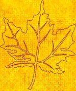 Free Embroidery Design: Continuous Line Maple Leaf - I Sew Free