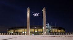 Olympiastadion in der Nacht