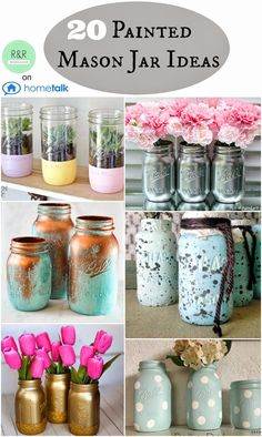 Painted Mason Jar Ideas