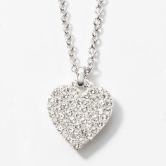 Pave Heart Necklace - $49 great Valentines Day gift - Swarovski Crystals Alison Manaher's Personal Website